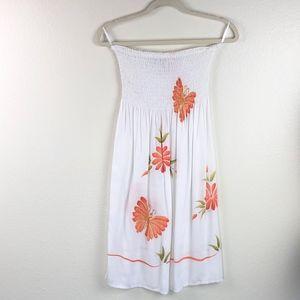 NEW Tiki Palm Butterfly Floral Aloha Dress